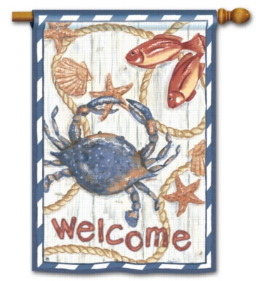 Blue Crab - Standard Flag by Magnet Works