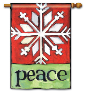 Peace Snowflake - Standard Flag by Magnet Works