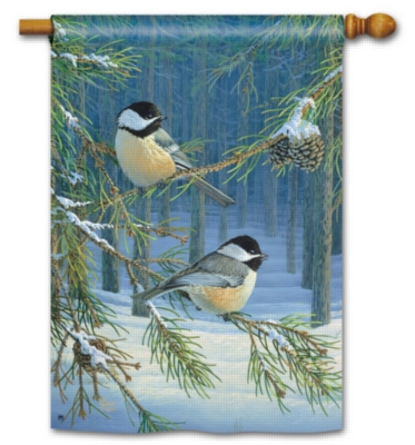 Chickadee Pair - Standard Flag by Magnet Works