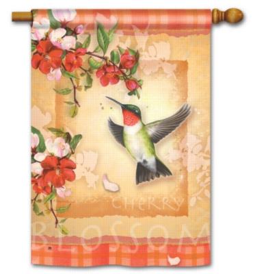 Hummingbird Plaid - Standard Flag by Magnet Works