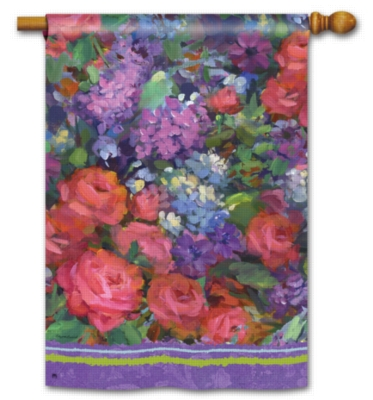 Roses & Lilacs - Standard Flag by Magnet Works