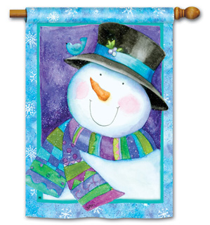 Jolly Snowman - Standard Flag by Magnet Works