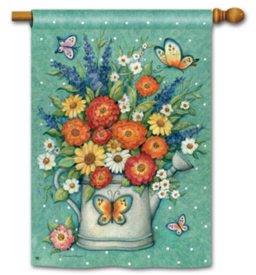Watering Can Bouquet - Standard Flag by Magnet Works