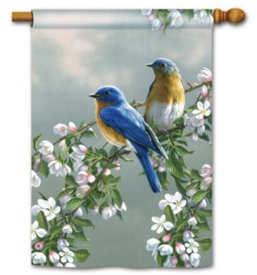 Bluebirds & Blossoms - Standard Flag by Magnet Works