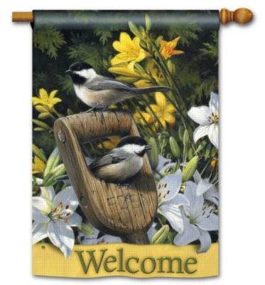 Summer Chickadees - Standard Flag by Magnet Works