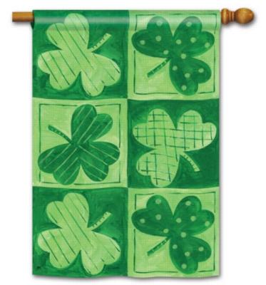 Shamrocks - Standard Flag by Magnet Works