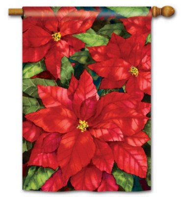 Red Poinsettia - Standard Flag by Magnet Works