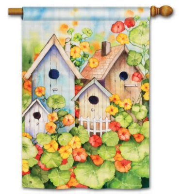 Birdhouse Garden - Standard Flag by Magnet Works