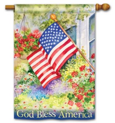 God Bless America - Standard Flag by Magnet Works