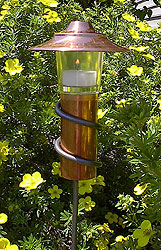 Twist Ground Light - Candle Lantern