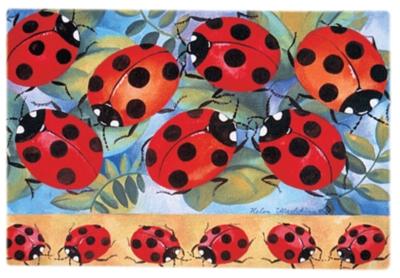 Ladies In Red - Designer Doormat by Toland