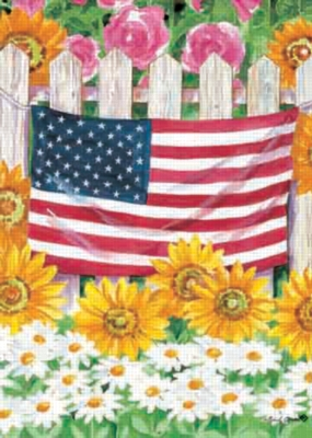 Flag on a Fence - Garden Flag by Toland