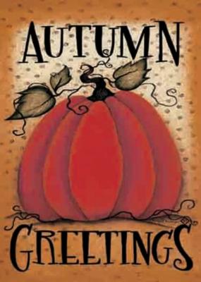 Pumpkin Greetings - Garden Flag by Toland