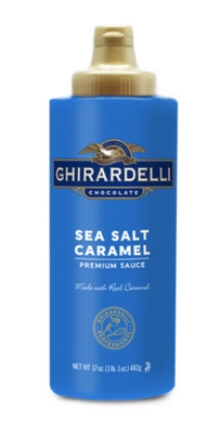 Ghirardelli Sea Salt Caramel Sauce - 12 fl. oz. Squeeze Bottle