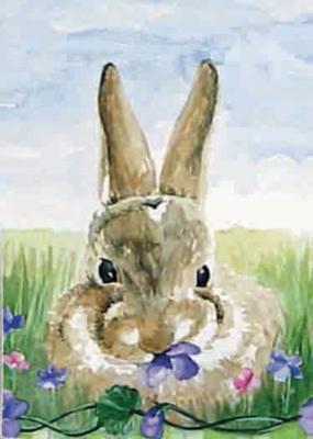 Garden Bunny - Garden Flag by Toland