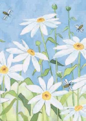 Daisy & Bees - Garden Flag by Toland