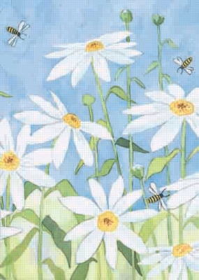 Daisy & Bees - Standard Flag by Toland