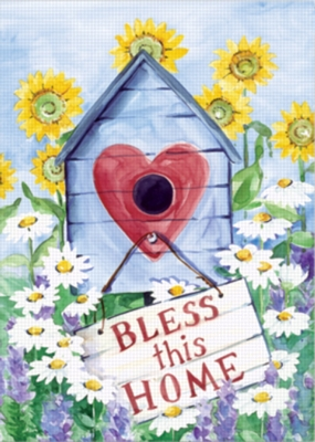 Bless This House - Garden Flag by Toland