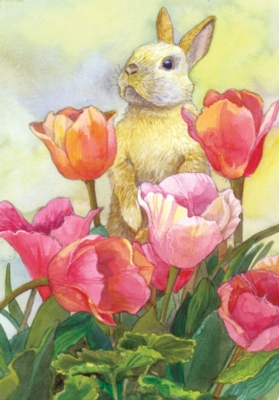 Bunny Tulips - Standard Flag by Toland