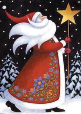 Santa & Star - Garden Flag by Toland