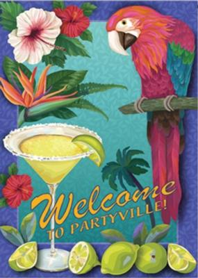 Partyville - Garden Flag by Toland