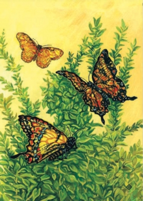 Butterflies in Flight - Garden Flag by Toland