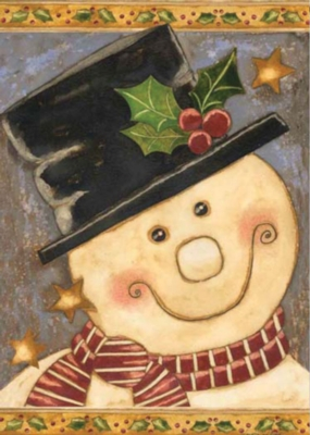Holly Snowman - Standard Flag by Toland