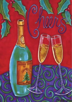 Holiday Cheers - Garden Flag by Toland