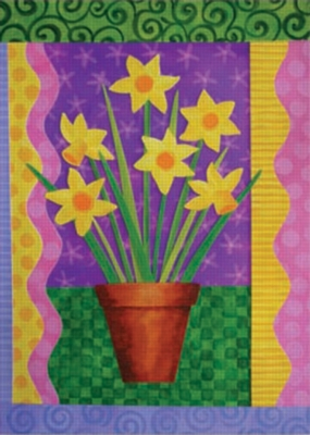 Daffodills Growing - Standard Flag by Toland