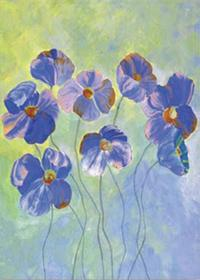 Blue Flowers - Garden Flag by Toland