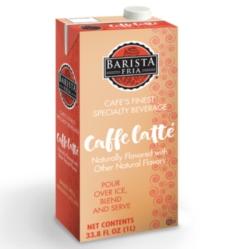 Barista Fria: 1L Shelf Stable Carton: Cafe Latte Mix