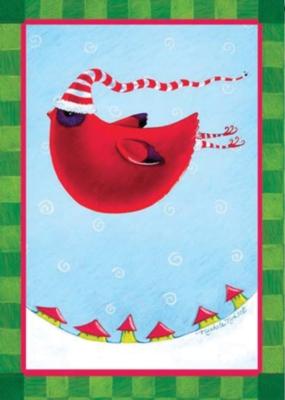 Chubby Cardinal - Garden Flag by Toland