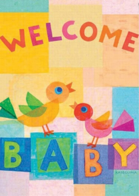Welcome Baby - Standard Flag by Toland
