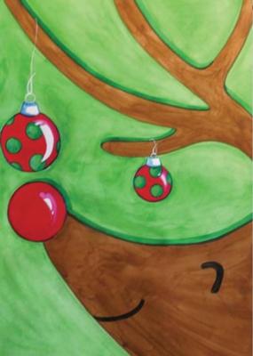 Reindeer Games - Garden Flag by Toland