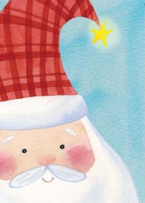Blushing Santa - Garden Flag by Toland