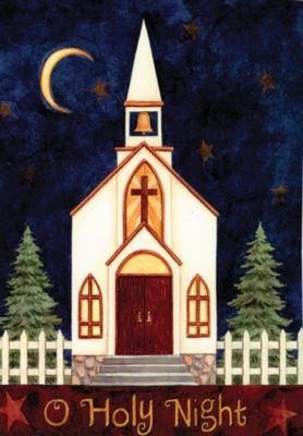 O Holy Night - Garden Flag by Toland