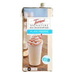Torani  Real Cream Frappé Base - 32oz Carton