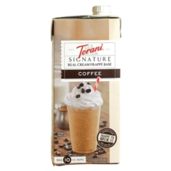 Torani Coffee Real Cream Frappé Base - 32oz Carton