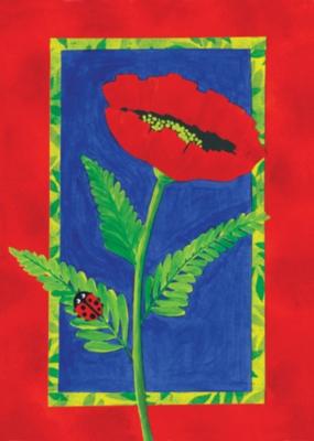 Bright Poppy - Standard Flag by Toland