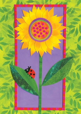 Bright Sun and Flower - Garden Flag by Toland