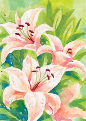 Up Close and Lily - Garden Flag by Toland