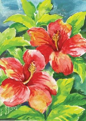 Hibiscus - Garden Flag by Toland