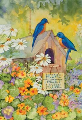Home Tweet Home - Garden Flag by Toland