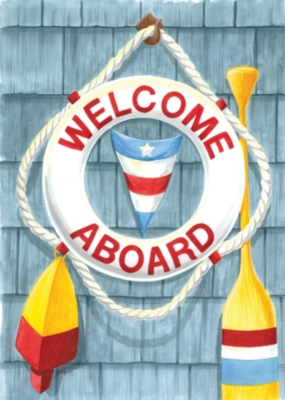 Welcome Aboard - Garden Flag by Toland