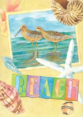 Beach Postcard - Garden Flag by Toland