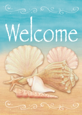 Welcome Shells - Garden Flag by Toland