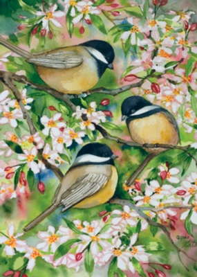 Sweet Chickadees - Standard Flag by Toland