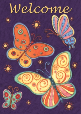 Nightflight Butterflies - Garden Flag by Toland