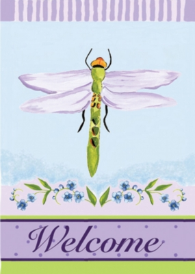 Dramatic Dragonfly - Garden Flag by Toland