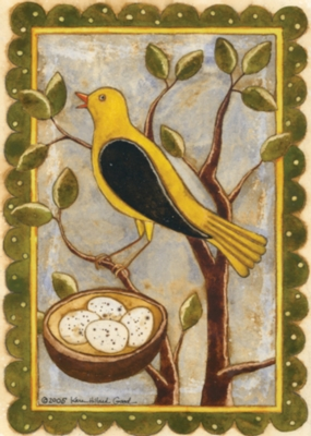 Yellow Bird with Nest - Standard Flag by Toland